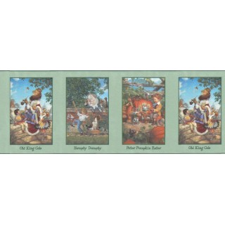 13 1/2 in x 15 ft Prepasted Wallpaper Borders - Peter Pumpkin Eater Wall Paper Border b103341