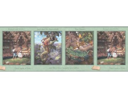 Prepasted Wallpaper Borders - Kids Wall Paper Border b103352