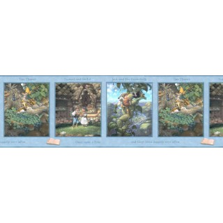 13 in x 15 ft Prepasted Wallpaper Borders - Kids Wall Paper Border b103354