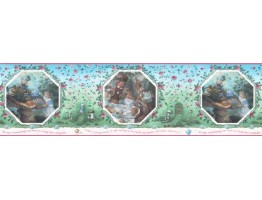 10 1/4 in x 15 ft Prepasted Wallpaper Borders - Fairy Tales Wall Paper Border b103361