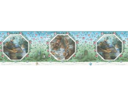 Prepasted Wallpaper Borders - Fairy Tales Wall Paper Border b103362