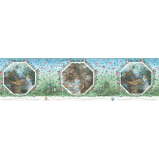 10 1/4 in x 15 ft Prepasted Wallpaper Borders - Fairy Tales Wall Paper Border b103362