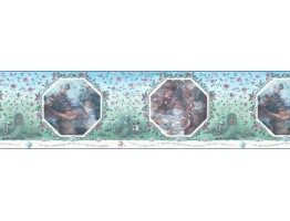 10 1/4 in x 15 ft Prepasted Wallpaper Borders - Kids Wall Paper Border WF103364