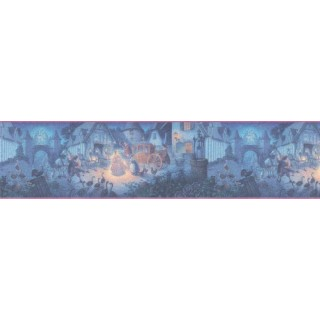 9 in x 15 ft Prepasted Wallpaper Borders - Cinderella Wall Paper Border b103401