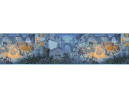 Prepasted Wallpaper Borders - Cinderella Wall Paper Border b103402