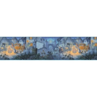 9 in x 15 ft Prepasted Wallpaper Borders - Cinderella Wall Paper Border b103402