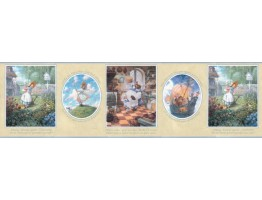 10 1/4 in x 15 ft Prepasted Wallpaper Borders - Nursery Rhyme Wall Paper Border b103422