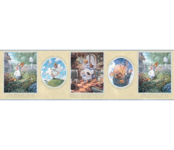 Clearance: Nursery Rhyme Wallpaper Border b103422