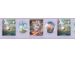 10 1/4 in x 15 ft Prepasted Wallpaper Borders - Nursery Rhyme Wall Paper Border b103423