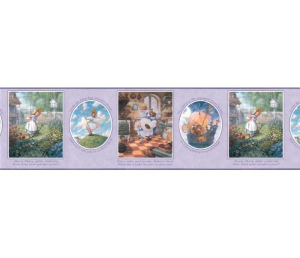 Clearance: Nursery Rhyme Wallpaper Border b103423