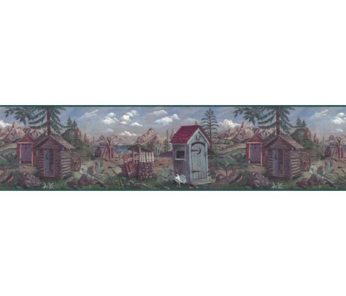 Country Wallpaper Borders: Country Wallpaper Border B103552