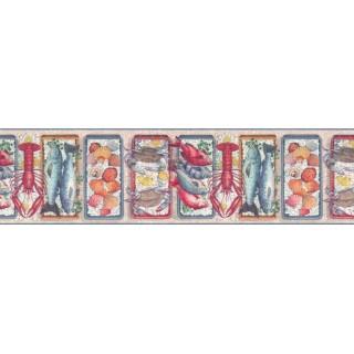 10 1/4 in x 15 ft Prepasted Wallpaper Borders - Sea world Wall Paper Border b103741