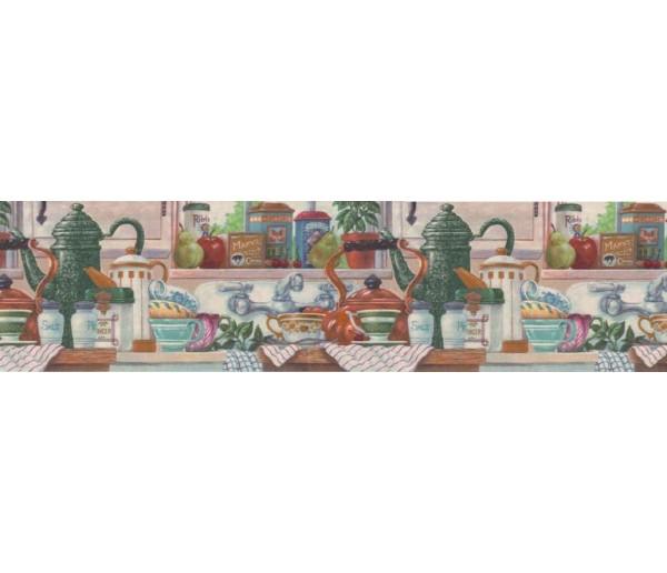 Clearance: Kitchen Wallpaper Border CV103752