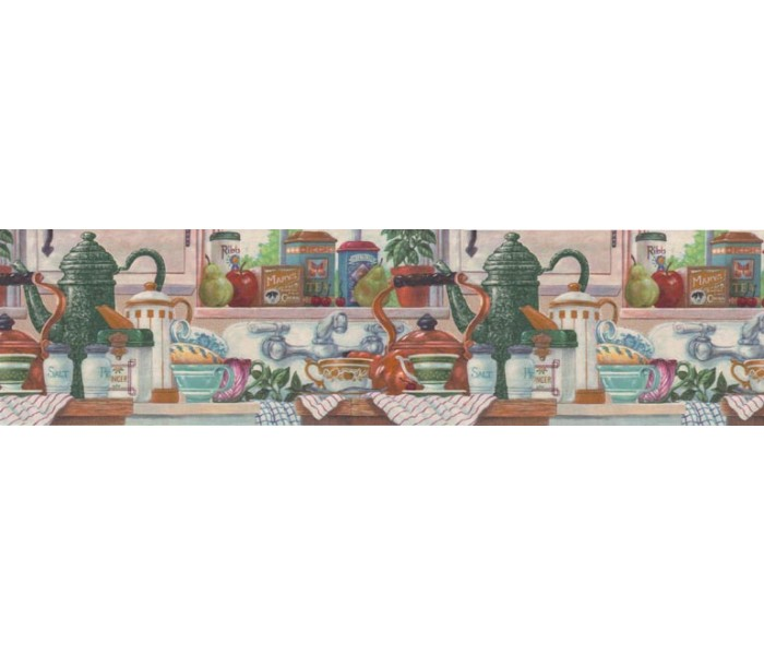 Clearance: Kitchen Wallpaper Border CV103752