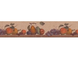 Prepasted Wallpaper Borders - Fruits Wall Paper Border b103770