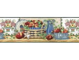 Apple Fruits Wallpaper Border B11023