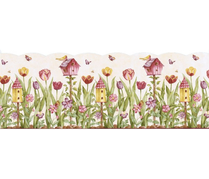 Bird Houses Wallpaper Borders: Birds House Wallpaper Border KS11689DB