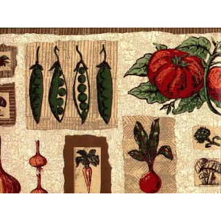 10 1/4 in x 15 ft Prepasted Wallpaper Borders - Vegetables Wall Paper Border B1236hc