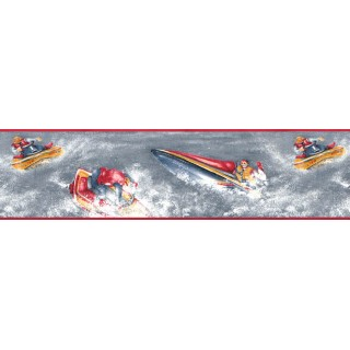 6 7/8 in x 15 ft Prepasted Wallpaper Borders - Sports Wall Paper Border 128230