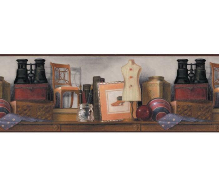 Clearance: Contemporary Wallpaper Border B140248