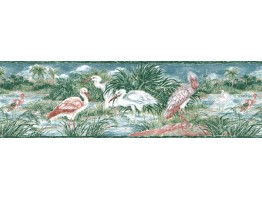 Prepasted Wallpaper Borders - Birds Wall Paper Border B141227