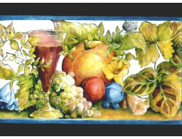 6 3/4 in x 15 ft Prepasted Wallpaper Borders - Fruits Wall Paper Border b144208