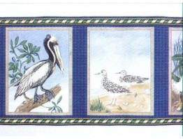 6 7/8 in x 15 ft Prepasted Wallpaper Borders - Birds Wall Paper Border b145227
