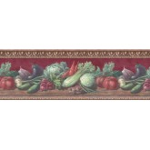 Prepasted Wallpaper Borders - Vegetables Wall Paper Border B153222