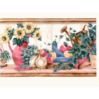 10 1/4 in x 15 ft Prepasted Wallpaper Borders - Sunflowers Wall Paper Border b16286