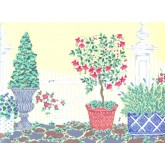 Prepasted Wallpaper Borders - Garden Wall Paper Border b16324