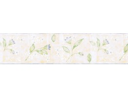 6 7/8 in x 15 ft Prepasted Wallpaper Borders - Floral Wall Paper Border NUT1723