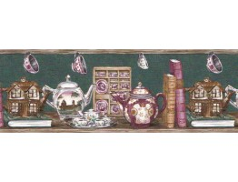 Prepasted Wallpaper Borders - Kitchen Wall Paper Border B192205