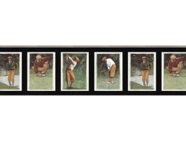 Prepasted Wallpaper Borders - Golf Wall Paper Border B2004PG