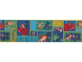 7 in x 15 ft Prepasted Wallpaper Borders - Jungle Book Wall Paper Border b2005kwl