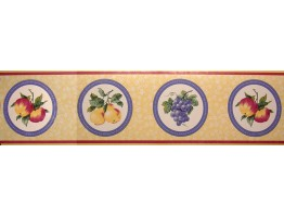 Prepasted Wallpaper Borders - Fruits Wall Paper Border MB2101B