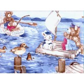 Toys Wallpaper Borders: Animals Wallpaper Border TB2102B