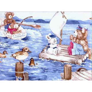 10 3/8 in x 15 ft Prepasted Wallpaper Borders - Animals Wall Paper Border TB2102B