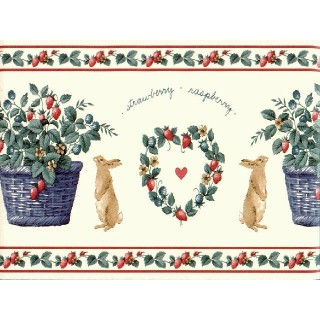 15 ft Prepasted Wallpaper Borders - Rabbits Wall Paper Border SG2124B