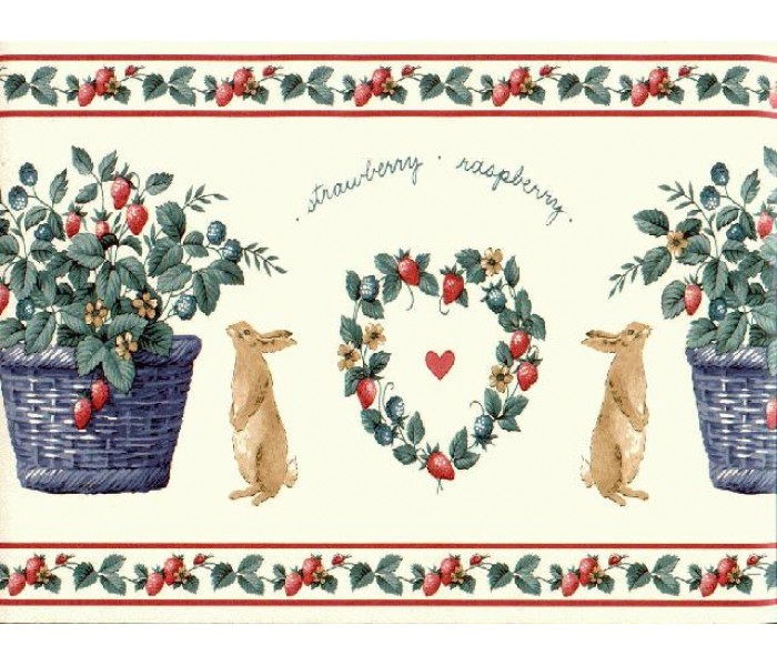 Clearance: Rabbits Wallpaper Border SG2124B