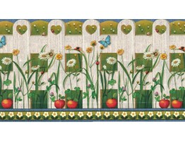 Prepasted Wallpaper Borders - Garden Wall Paper Border b2143yh