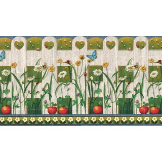 27 in x 15 ft Prepasted Wallpaper Borders - Garden Wall Paper Border b2143yh