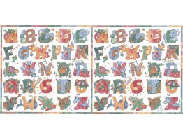 Prepasted Wallpaper Borders - Alphabets Wall Paper Border B2144TY