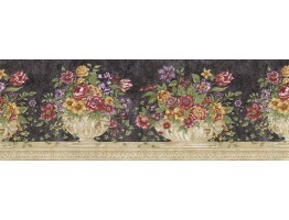 Prepasted Wallpaper Borders - Floral Wall Paper Border RST21512