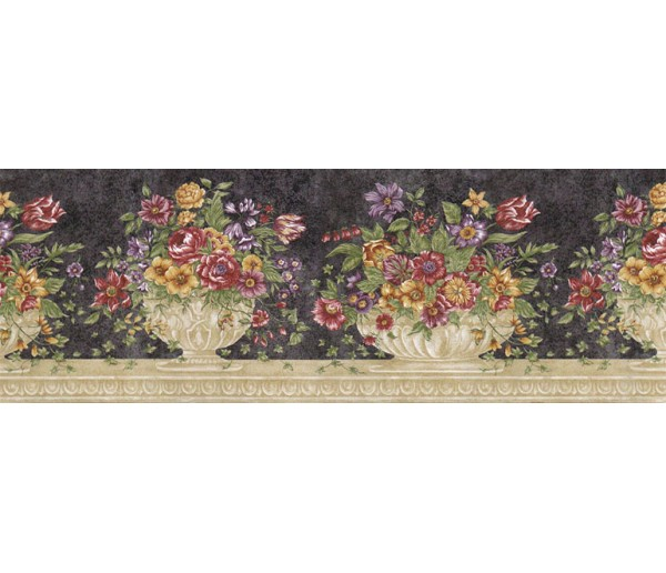 Floral Borders Floral Wallpaper Border RST21512