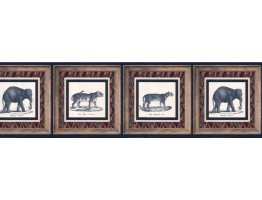 Prepasted Wallpaper Borders - Animals Wall Paper Border WD2162B