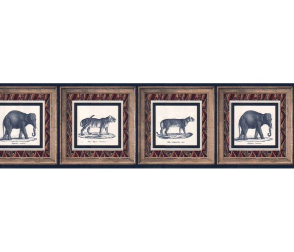 Clearance: Animals Wallpaper Border WD2162B