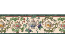 Prepasted Wallpaper Borders - Garden Wall Paper Border B21867