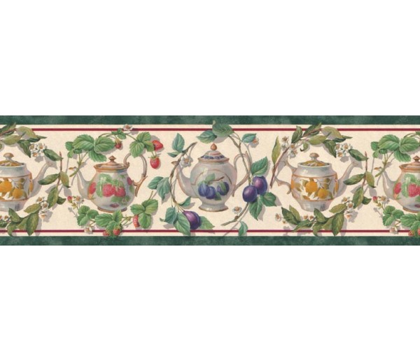 Clearance Garden Wallpaper Border B21867 Fine Art Decor Ltd.