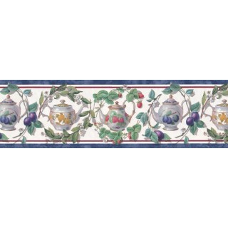 9 in x 15 ft Prepasted Wallpaper Borders - Garden Wall Paper Border B21868