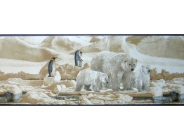 Prepasted Wallpaper Borders - Animals Wall Paper Border B2191nf